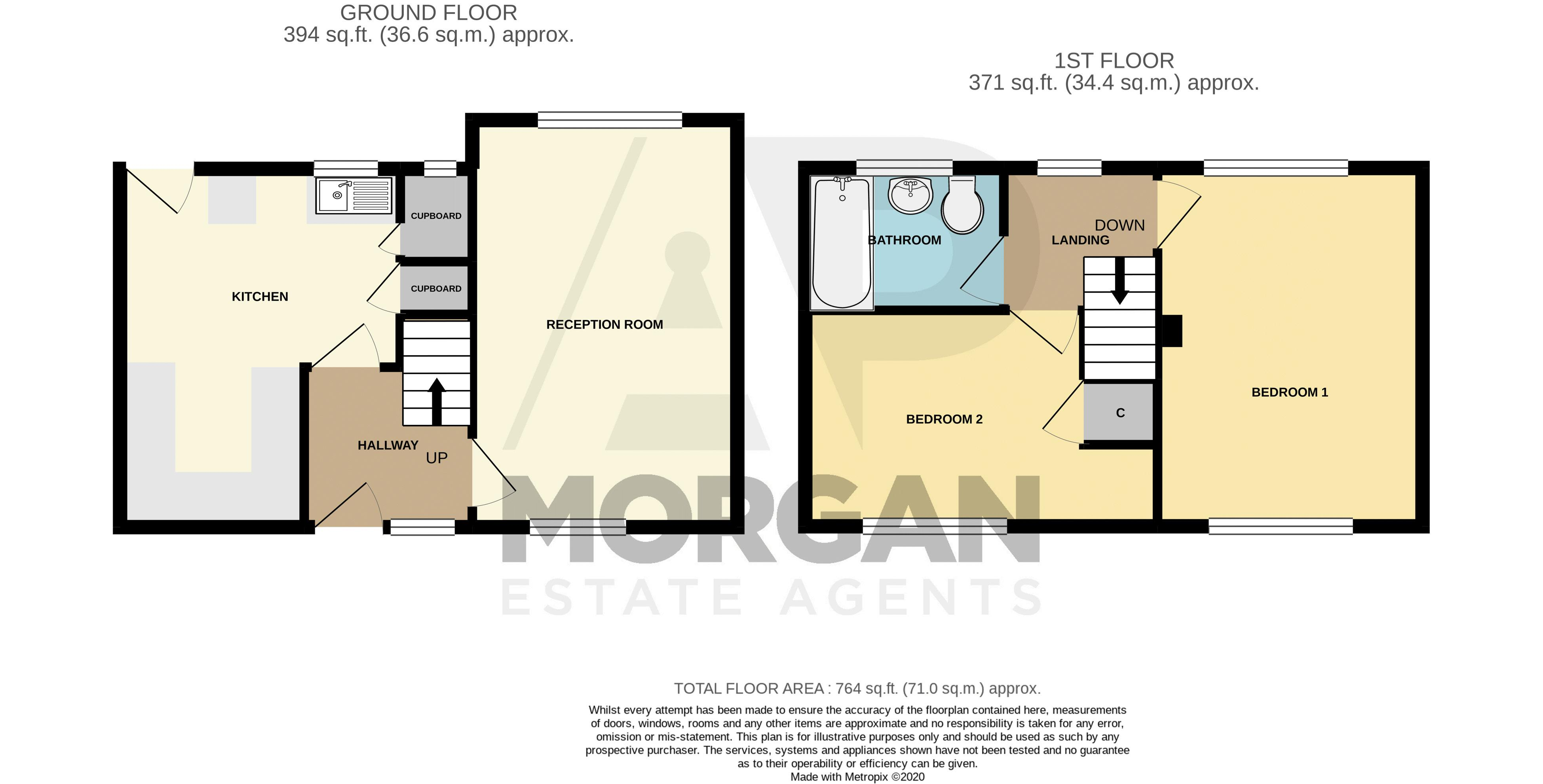 2 bed house for sale in Beech Road - Property Floorplan