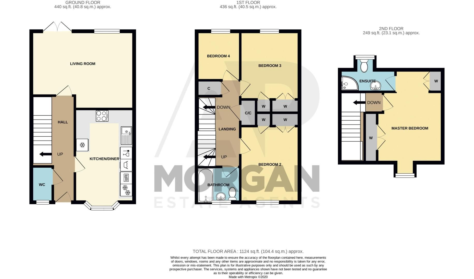 4 bed  for sale in Garrick Road - Property Floorplan