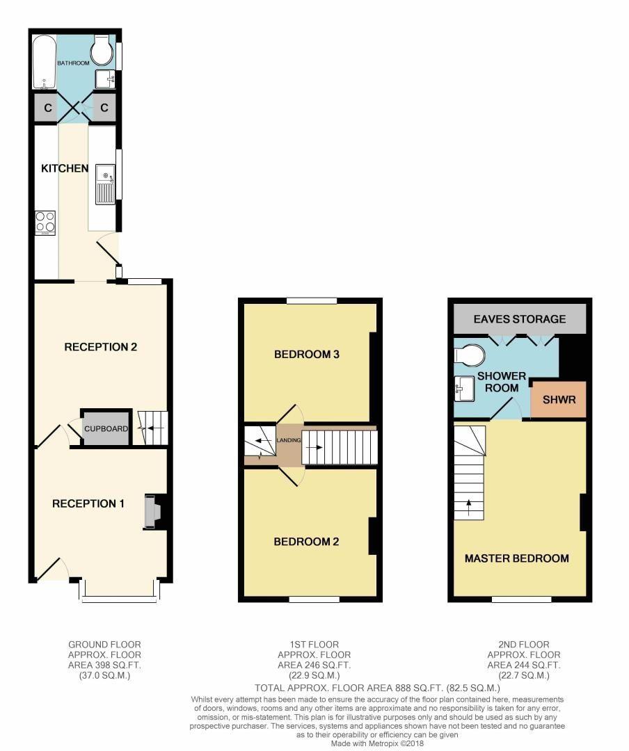 3 bed house for sale in Melen Street - Property Floorplan