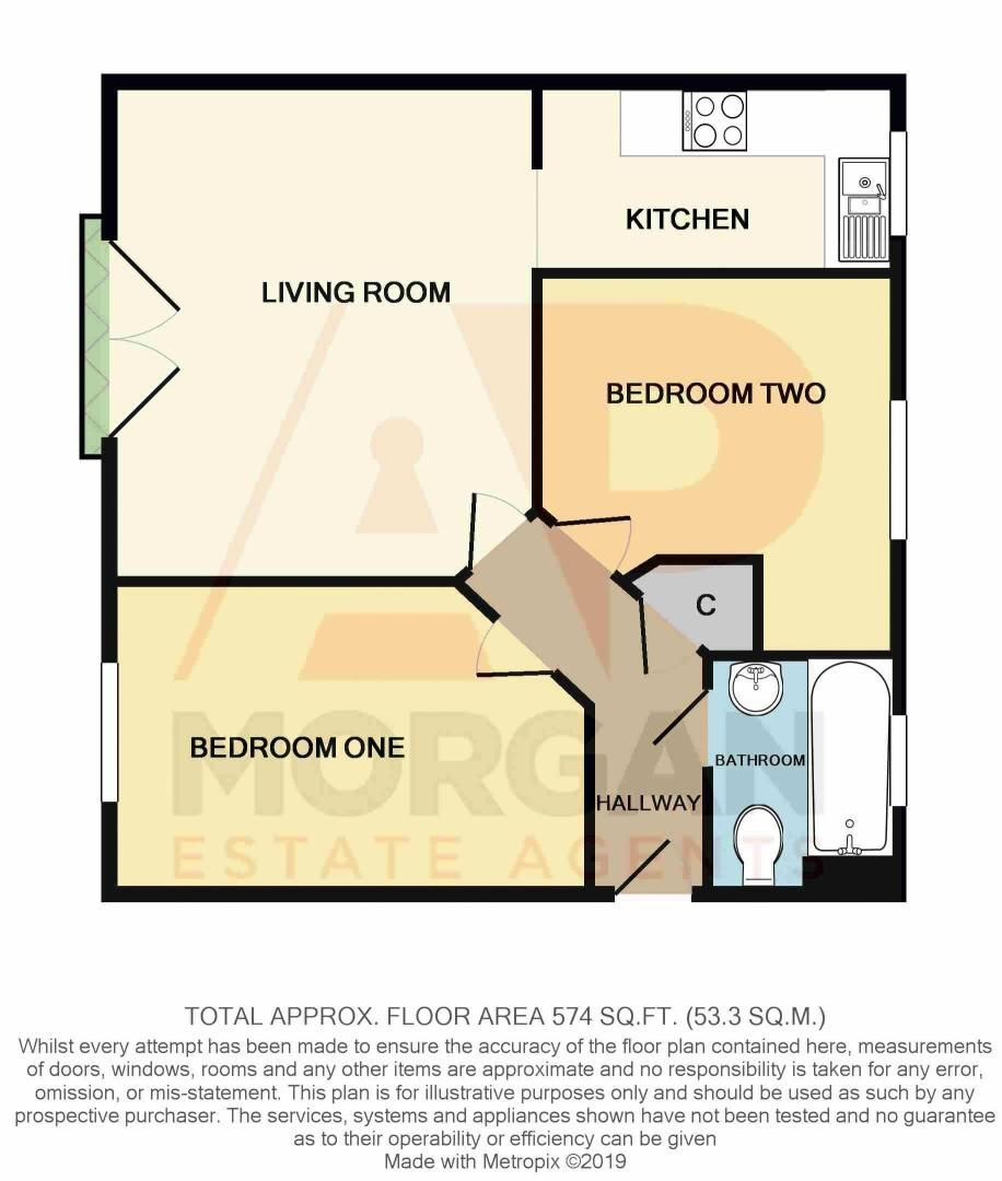 2 bed flat for sale in Hollington House - Property Floorplan