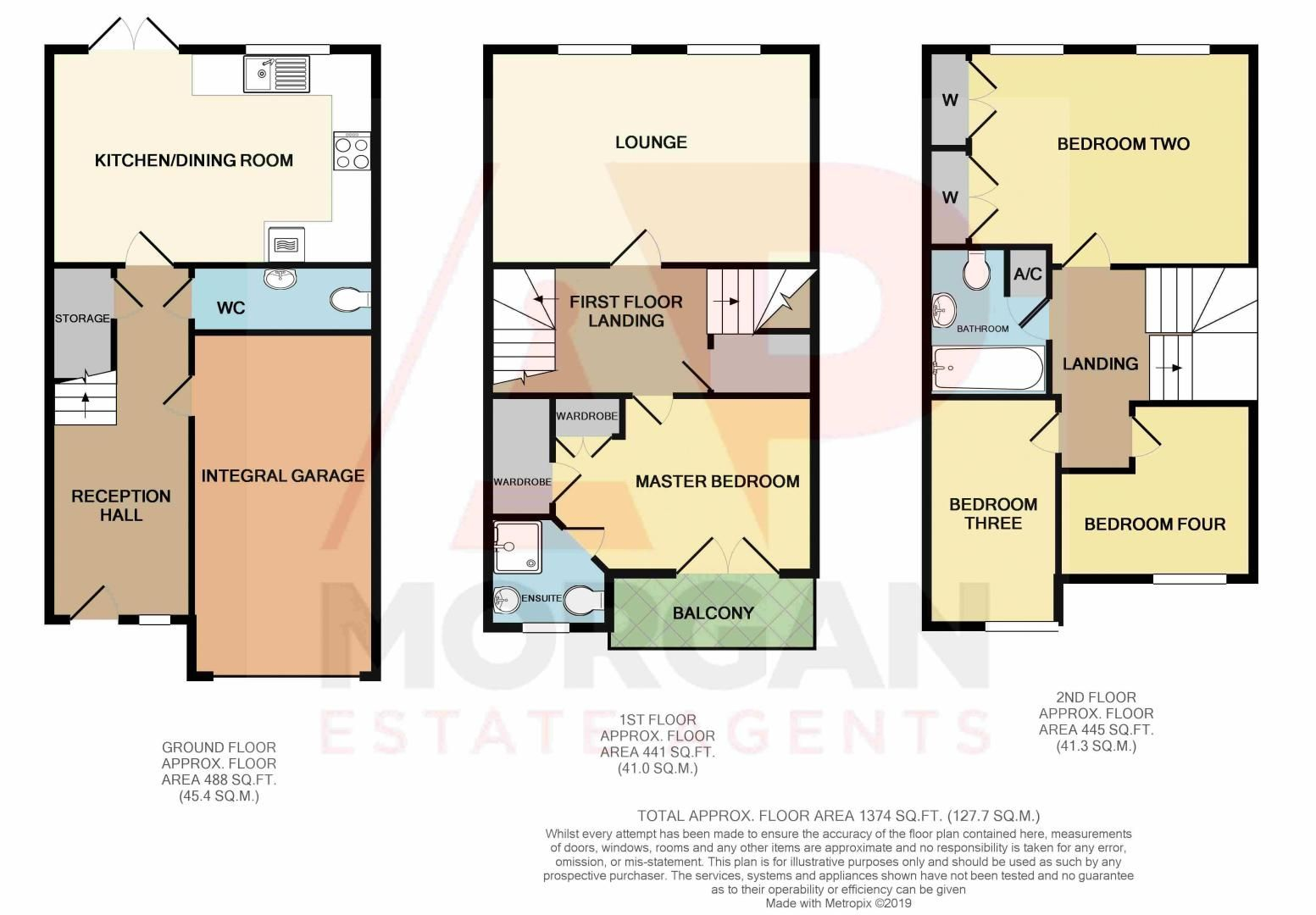 4 bed house for sale in Dixon Close - Property Floorplan