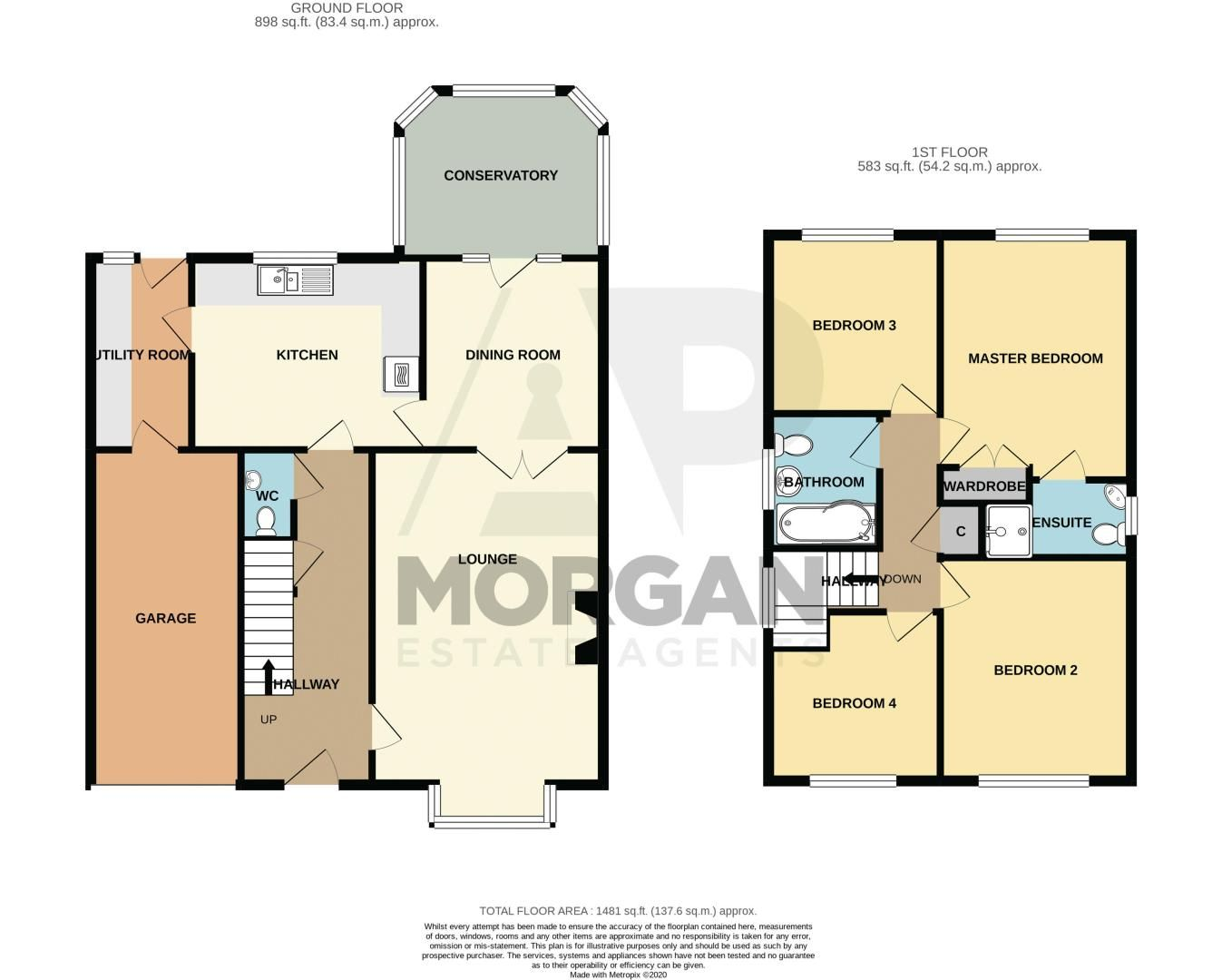 4 bed house for sale in Ploughmans Walk - Property Floorplan