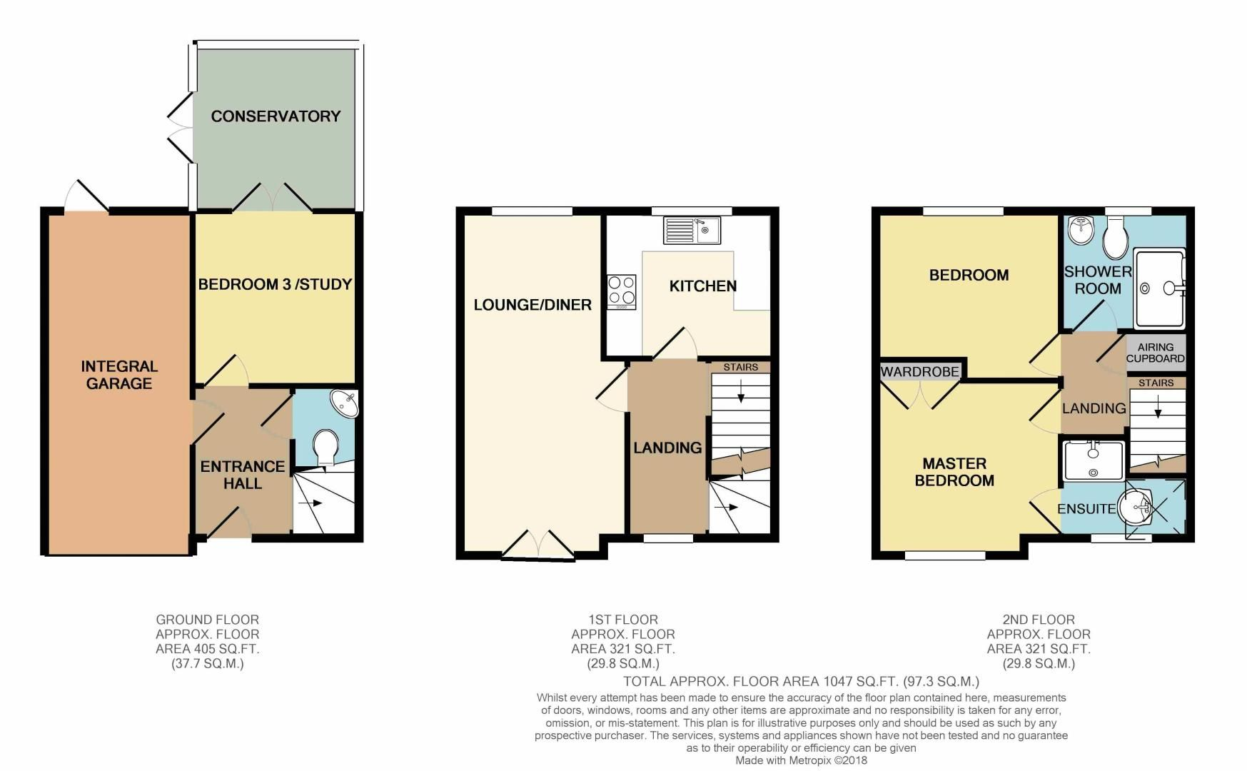 3 bed house for sale in Appletree Lane - Property Floorplan