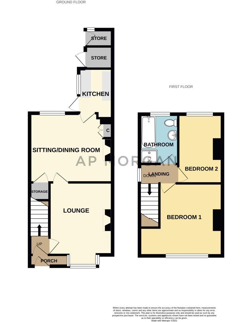 2 bed house for sale in Balden Road - Property Floorplan