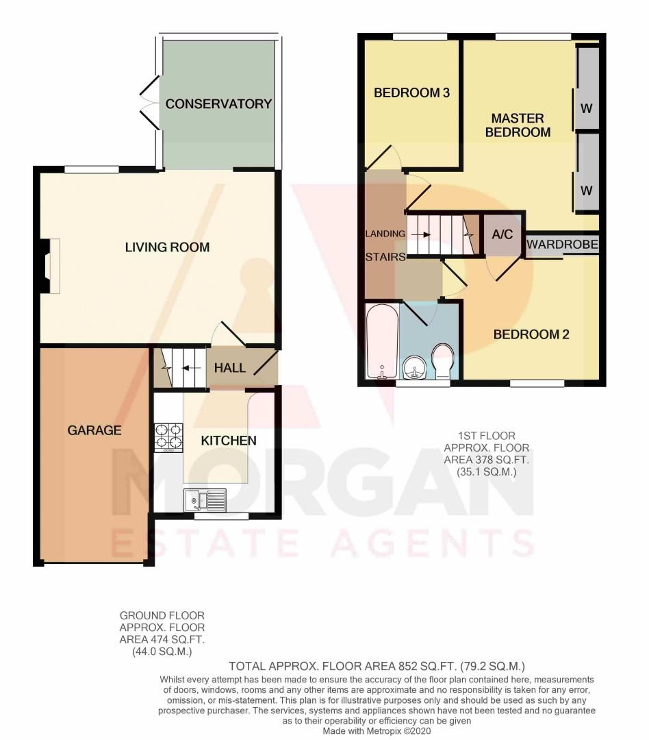 3 bed house for sale in Abbotswood Close - Property Floorplan