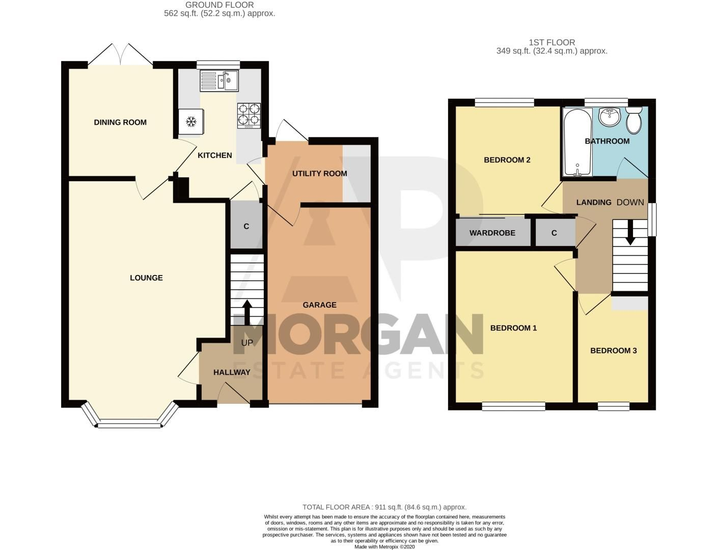 3 bed house for sale in Berkeley Close - Property Floorplan