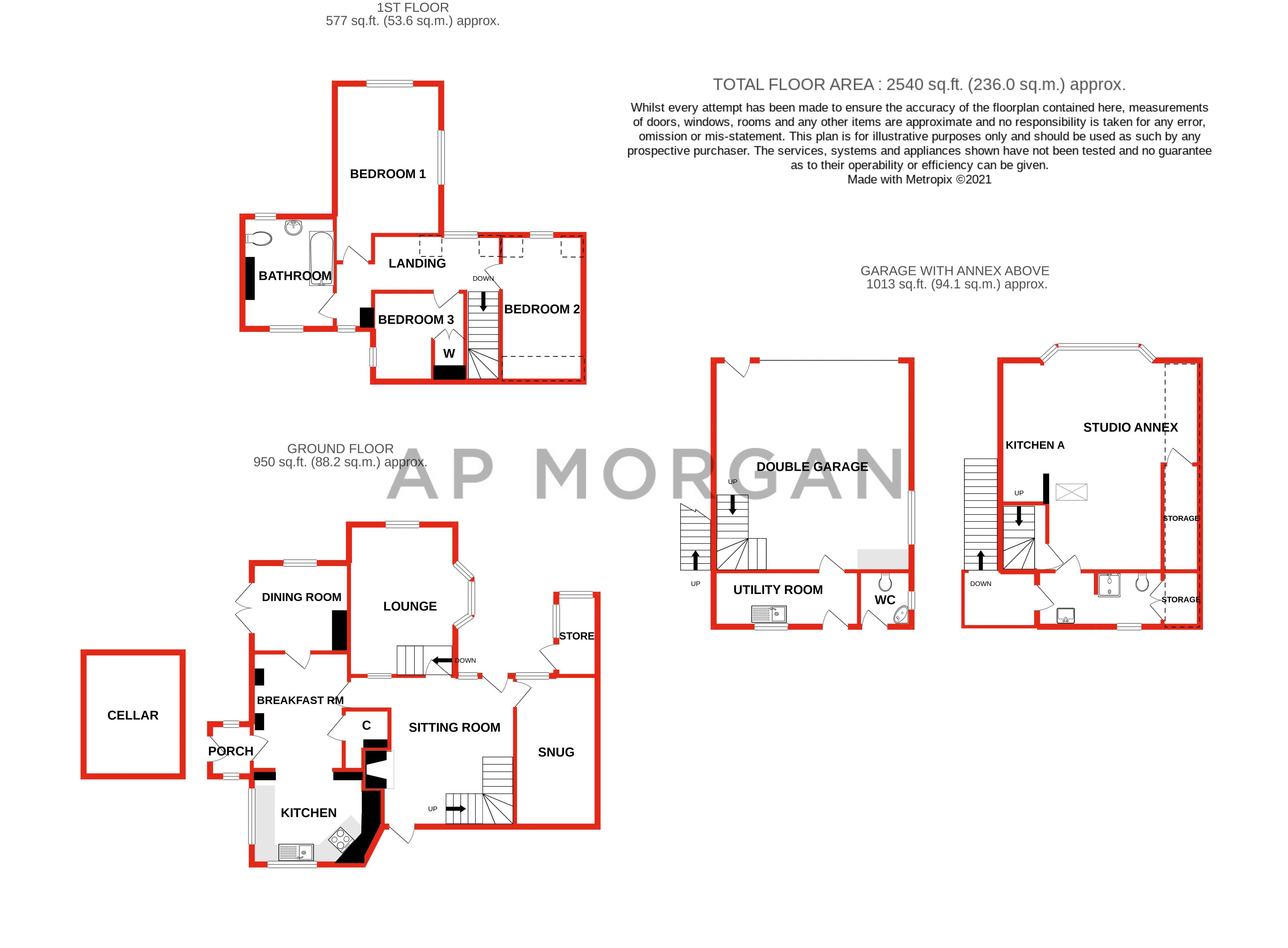 3 bed cottage for sale in Holt Hill - Property Floorplan