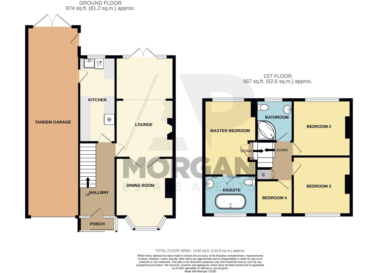 4 bed house for sale in Alvechurch Highway - Property Floorplan