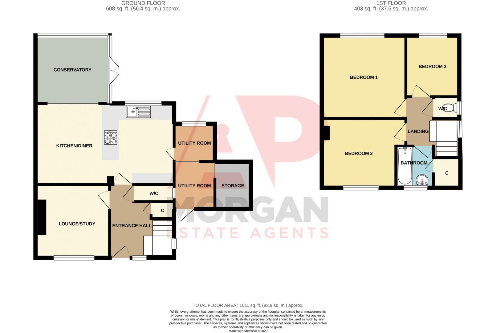 3 bed house for sale in Foxwalks Avenue - Property Floorplan