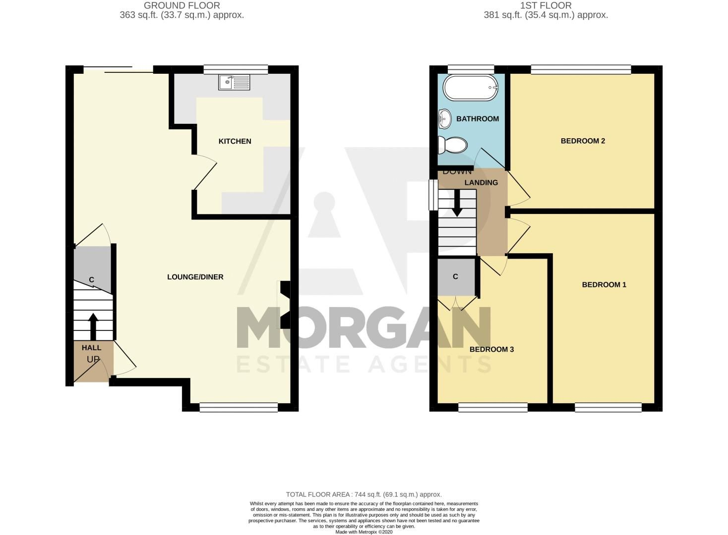 3 bed house for sale in Hill Top Road - Property Floorplan