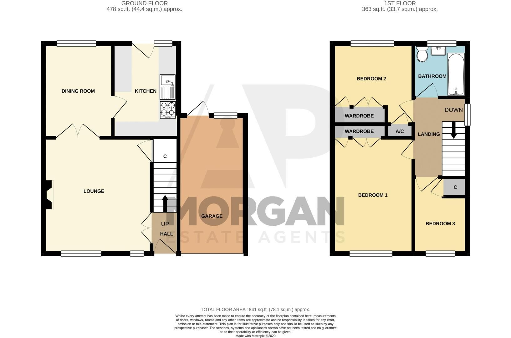 3 bed house for sale in Pebworth Close - Property Floorplan