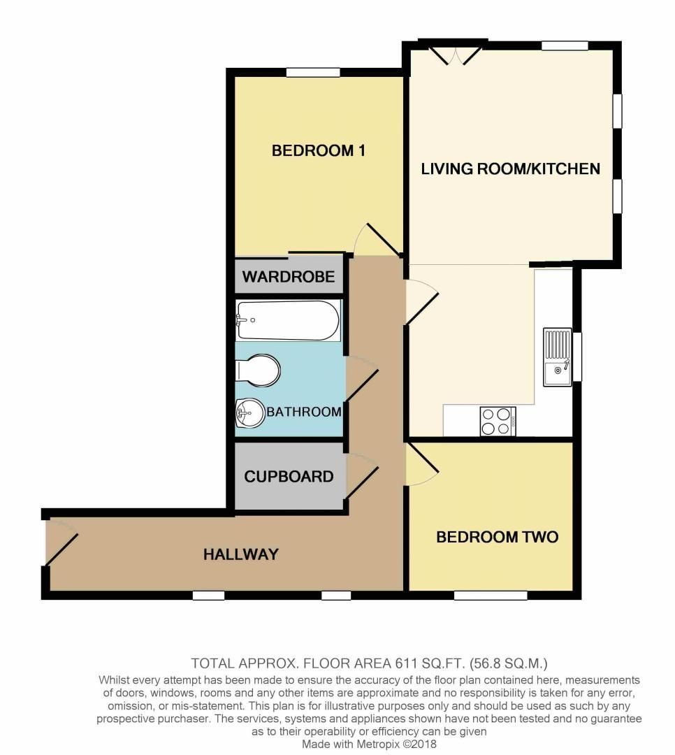 2 bed flat for sale in School Drive - Property Floorplan
