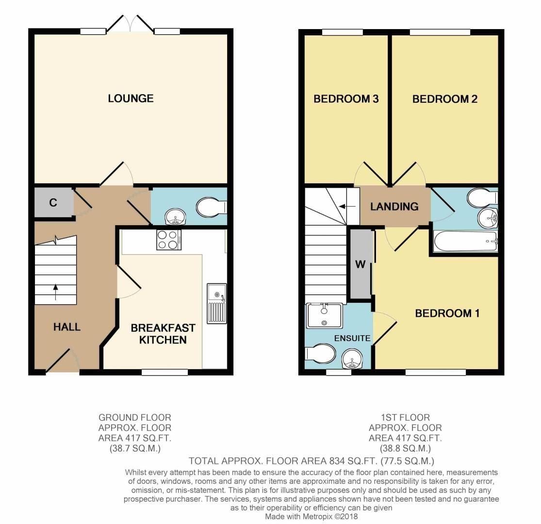 3 bed house for sale in Kemble Street - Property Floorplan
