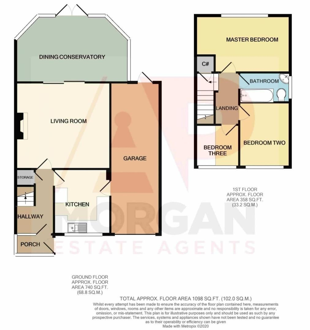 3 bed house for sale in Badger Close - Property Floorplan