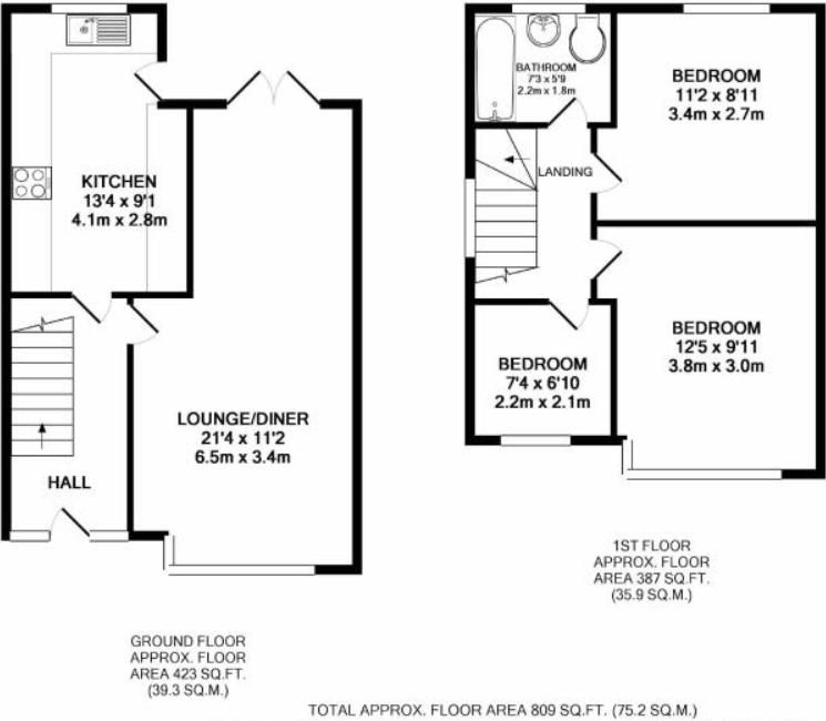 3 bed house for sale in Maypole Drive - Property Floorplan