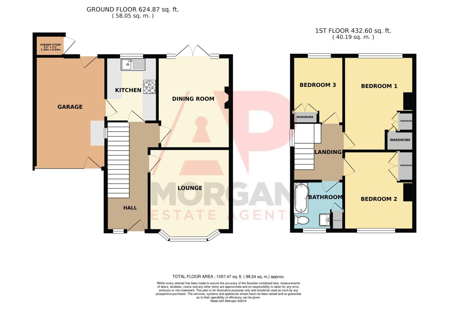 3 bed house for sale in Green Slade Crescent - Property Floorplan