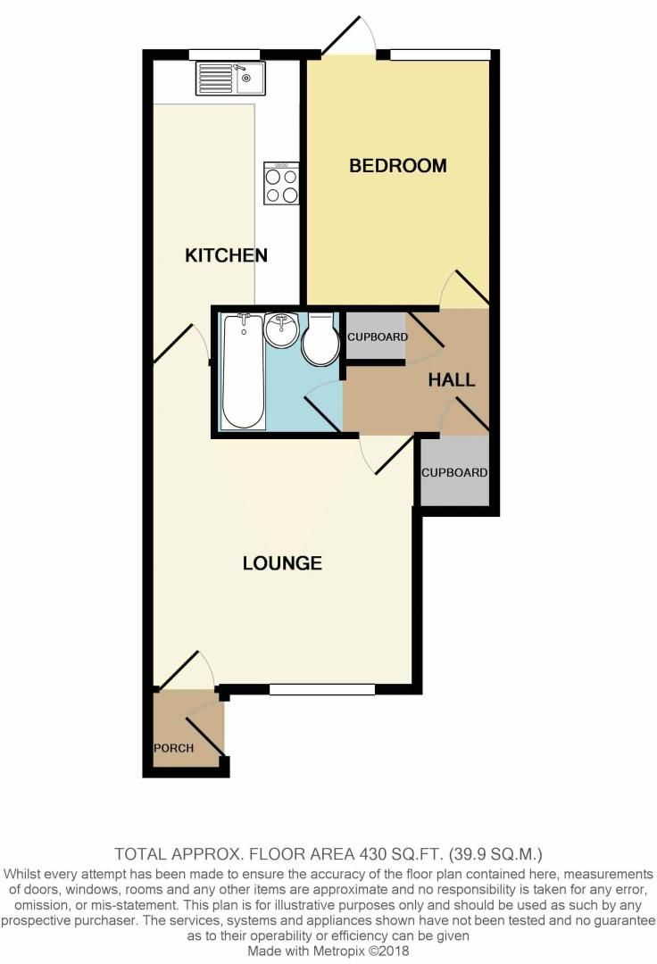 1 bed  for sale in Perryfields Close - Property Floorplan