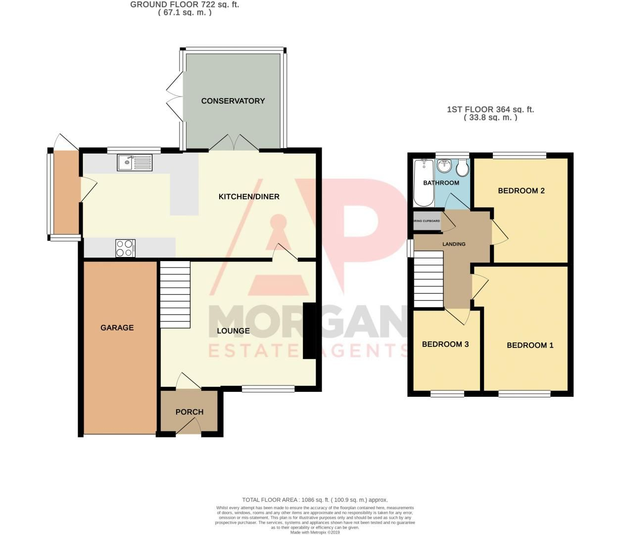 3 bed house for sale in Kitebrook Close - Property Floorplan
