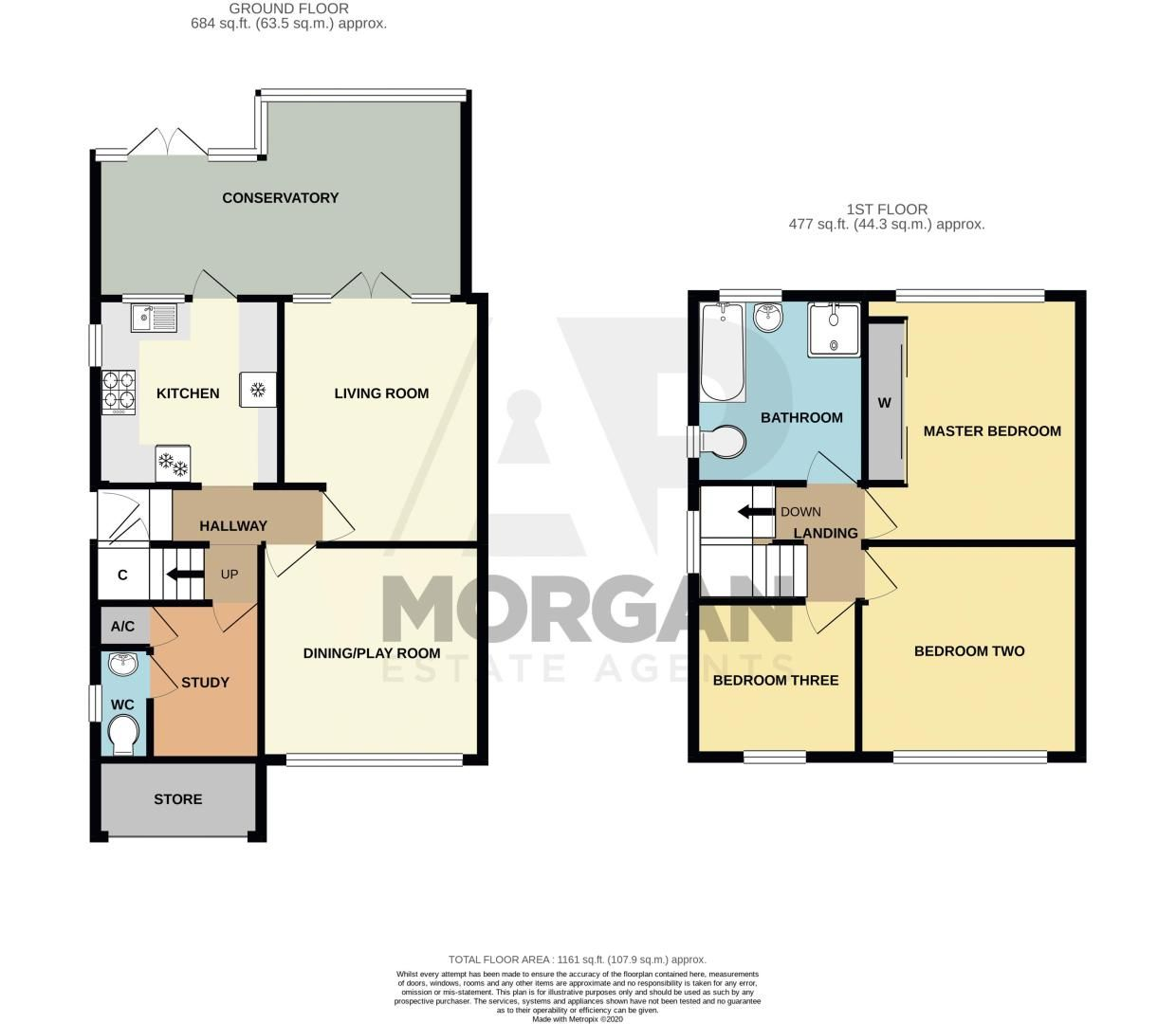 3 bed house for sale in Harport Road - Property Floorplan