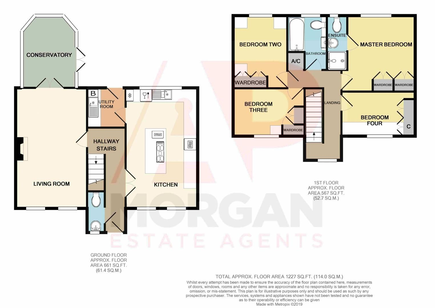 4 bed house for sale in Harbours Close - Property Floorplan