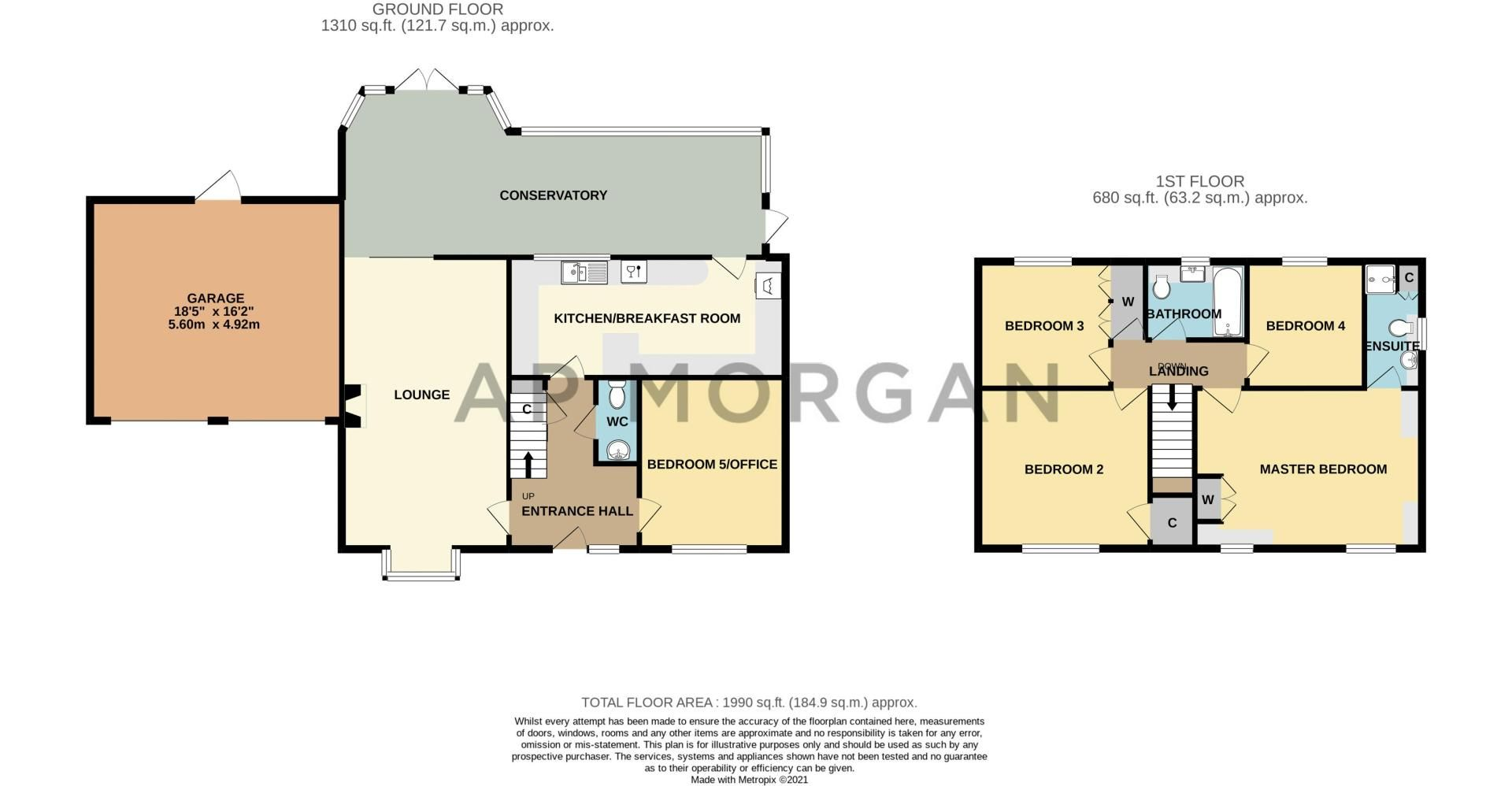 5 bed house for sale in Towbury Close - Property Floorplan