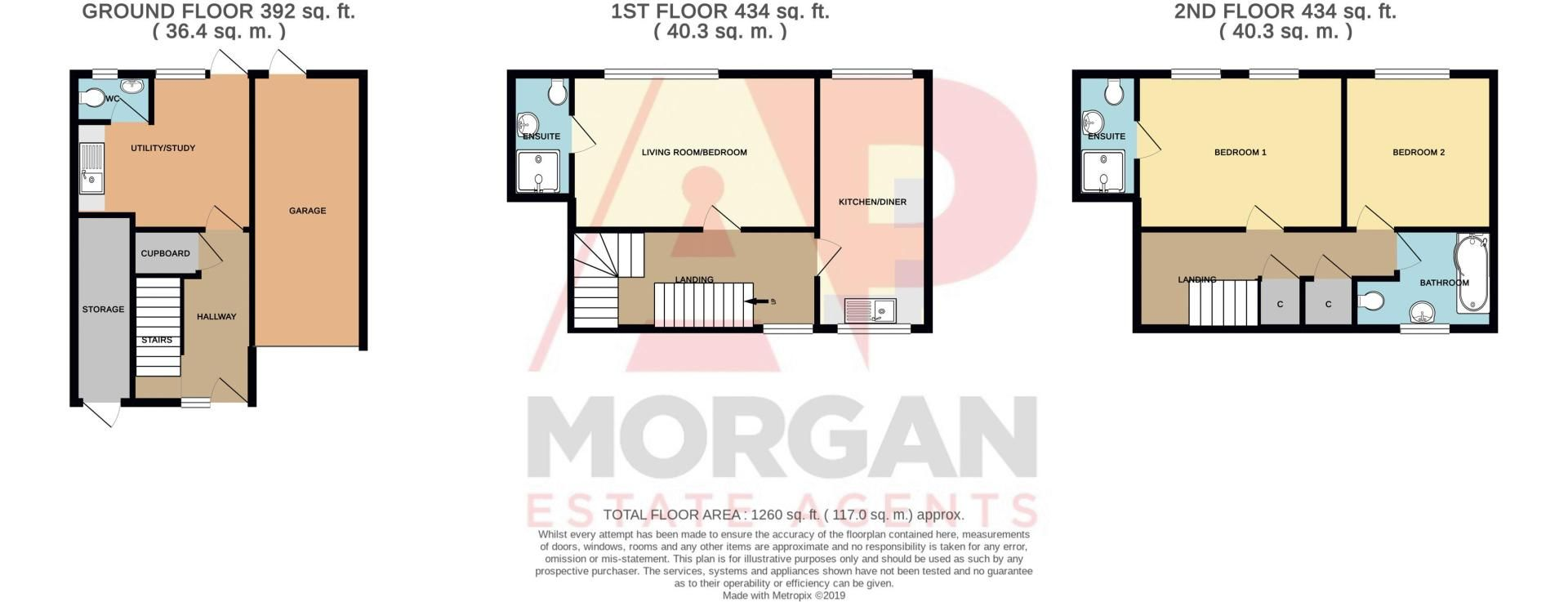 2 bed house for sale in Bushley Close - Property Floorplan