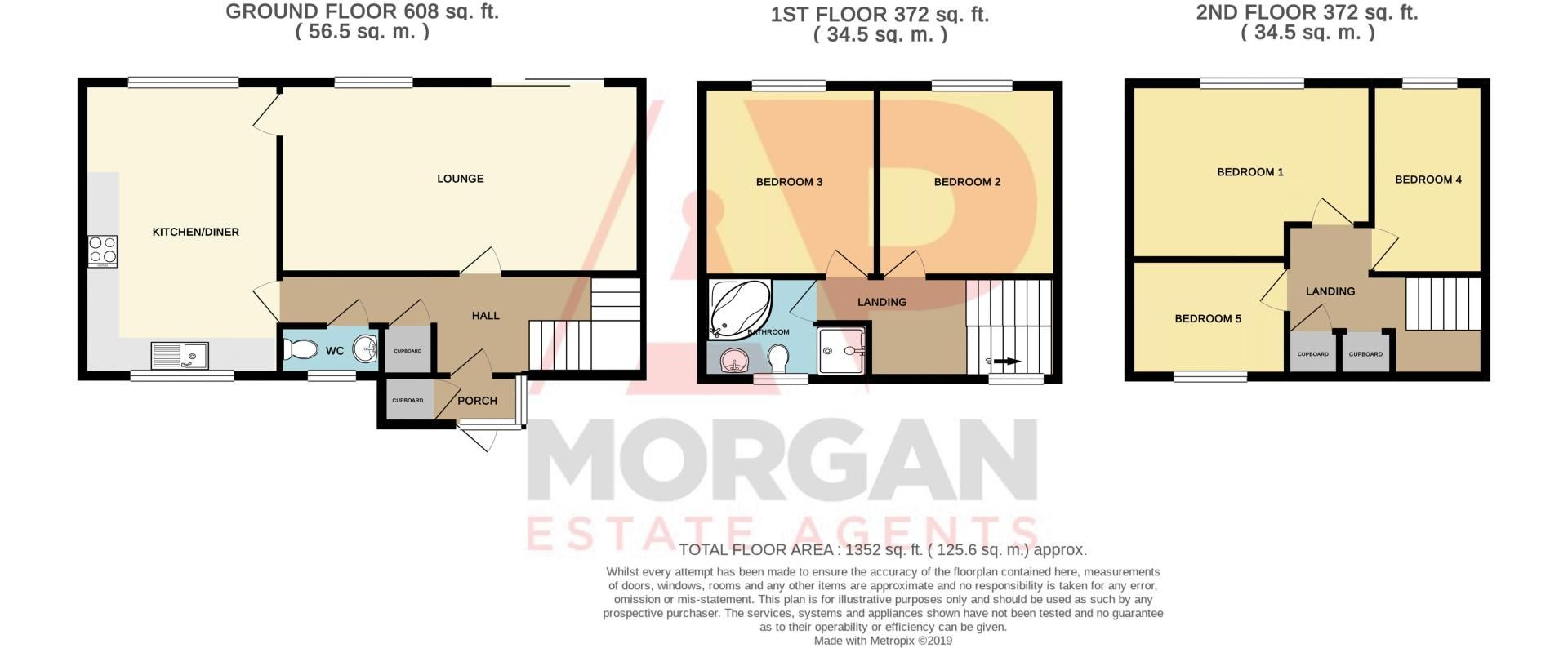 5 bed house for sale in Upper Field Close - Property Floorplan