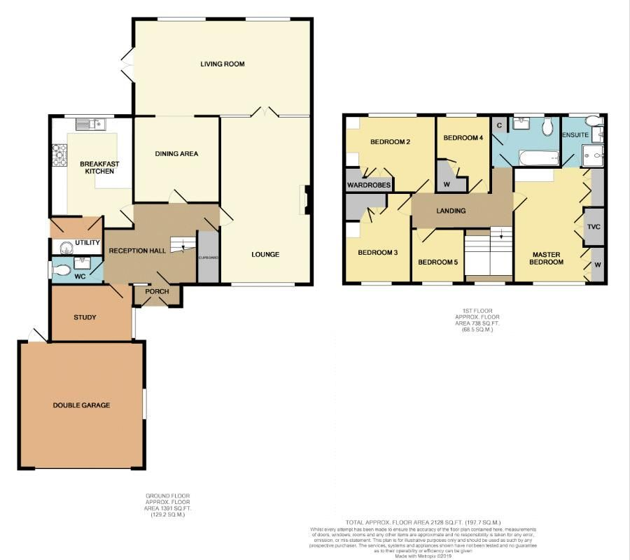 5 bed house for sale in Bridgnorth Road - Property Floorplan