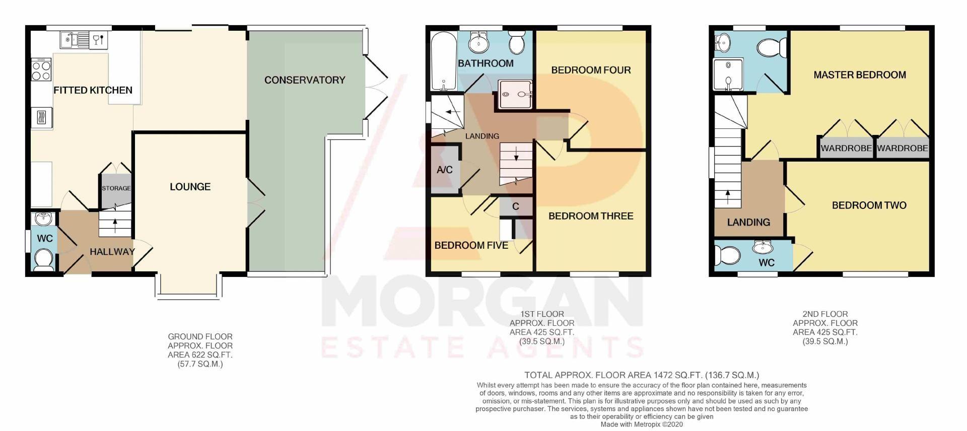 5 bed house for sale in Parklands Close - Property Floorplan