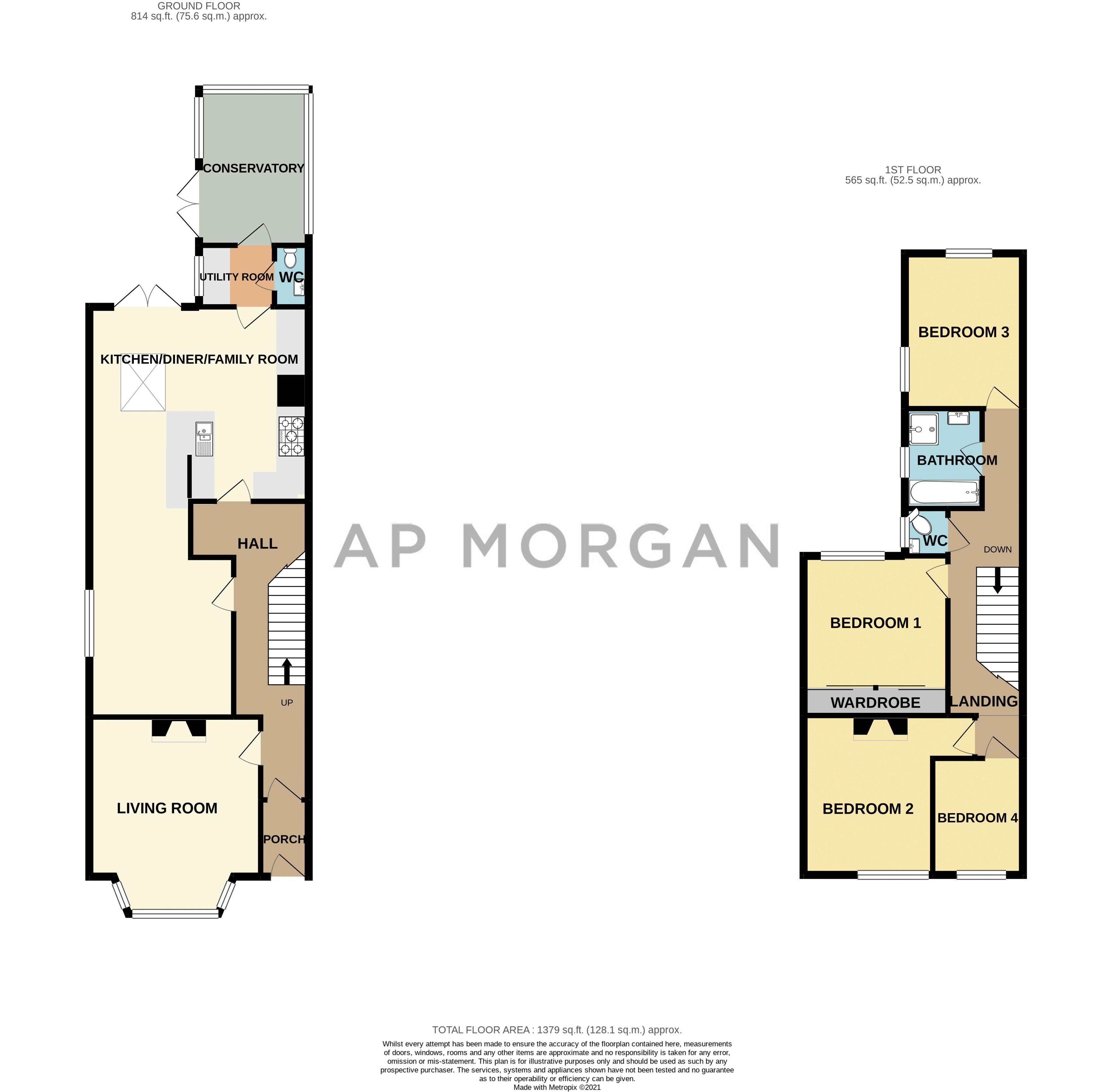 4 bed house for sale in Feckenham Road - Property Floorplan