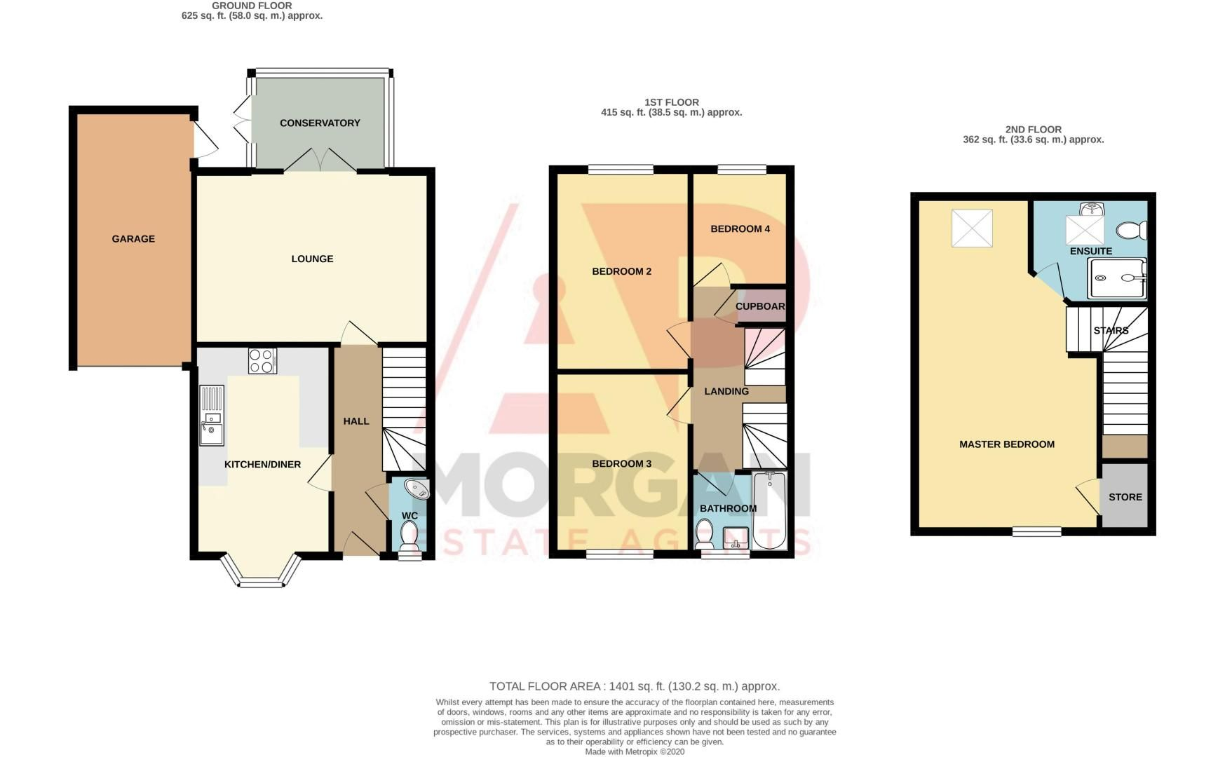 4 bed house for sale in Elrington Close - Property Floorplan