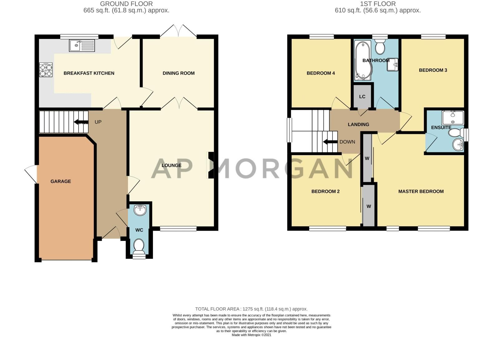 4 bed house for sale in Western Hill Close - Property Floorplan