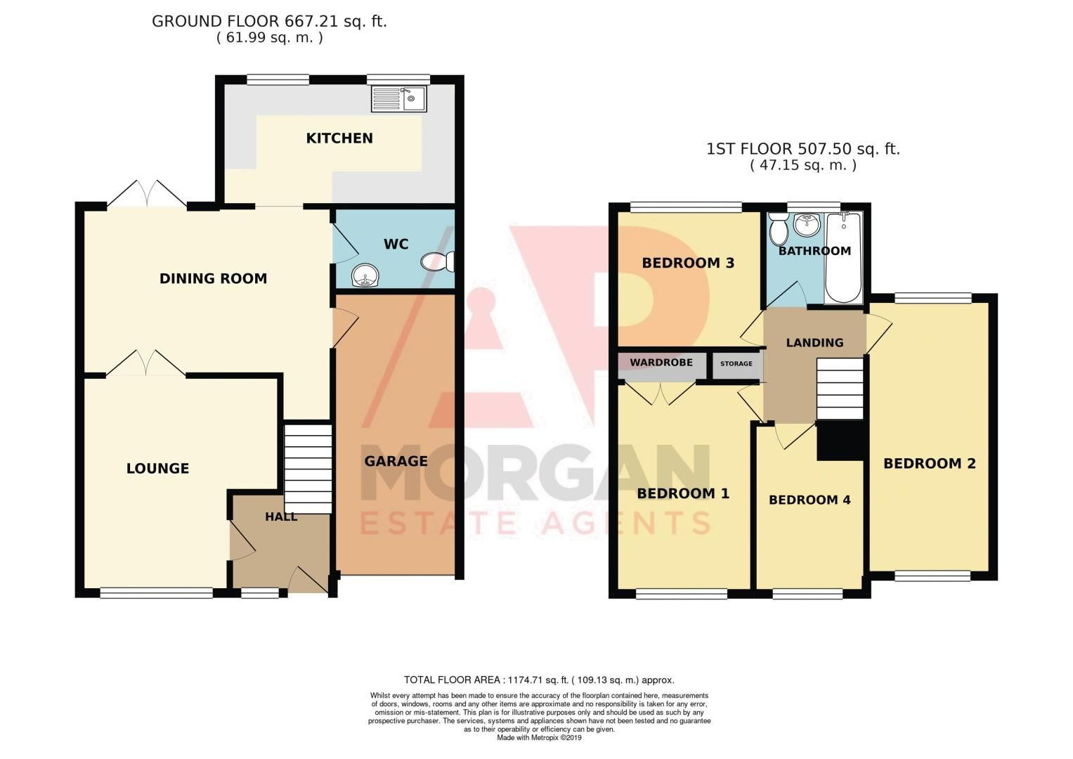 4 bed house for sale in Meriden Close - Property Floorplan