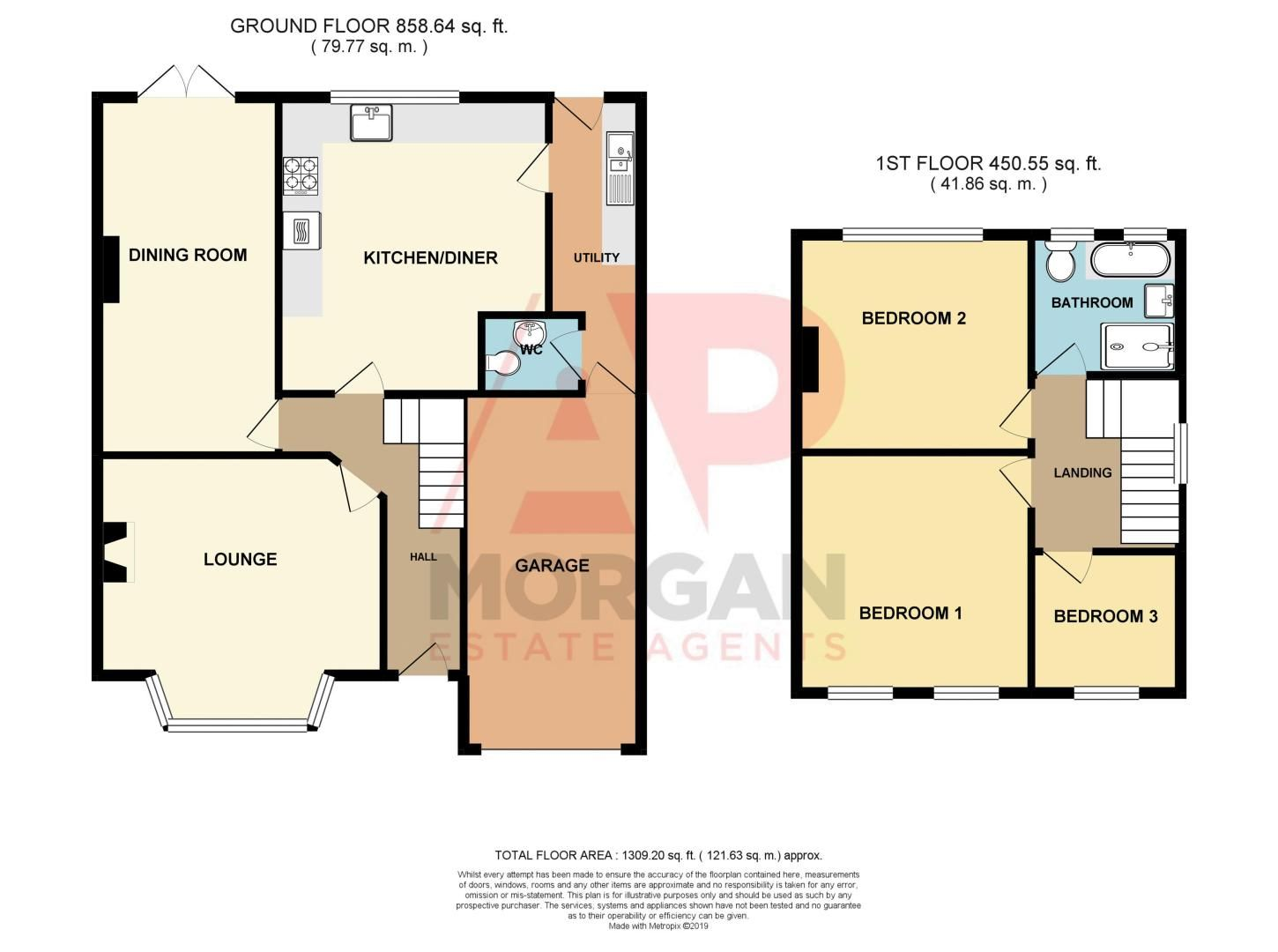 3 bed house for sale in Lady Greys Walk - Property Floorplan