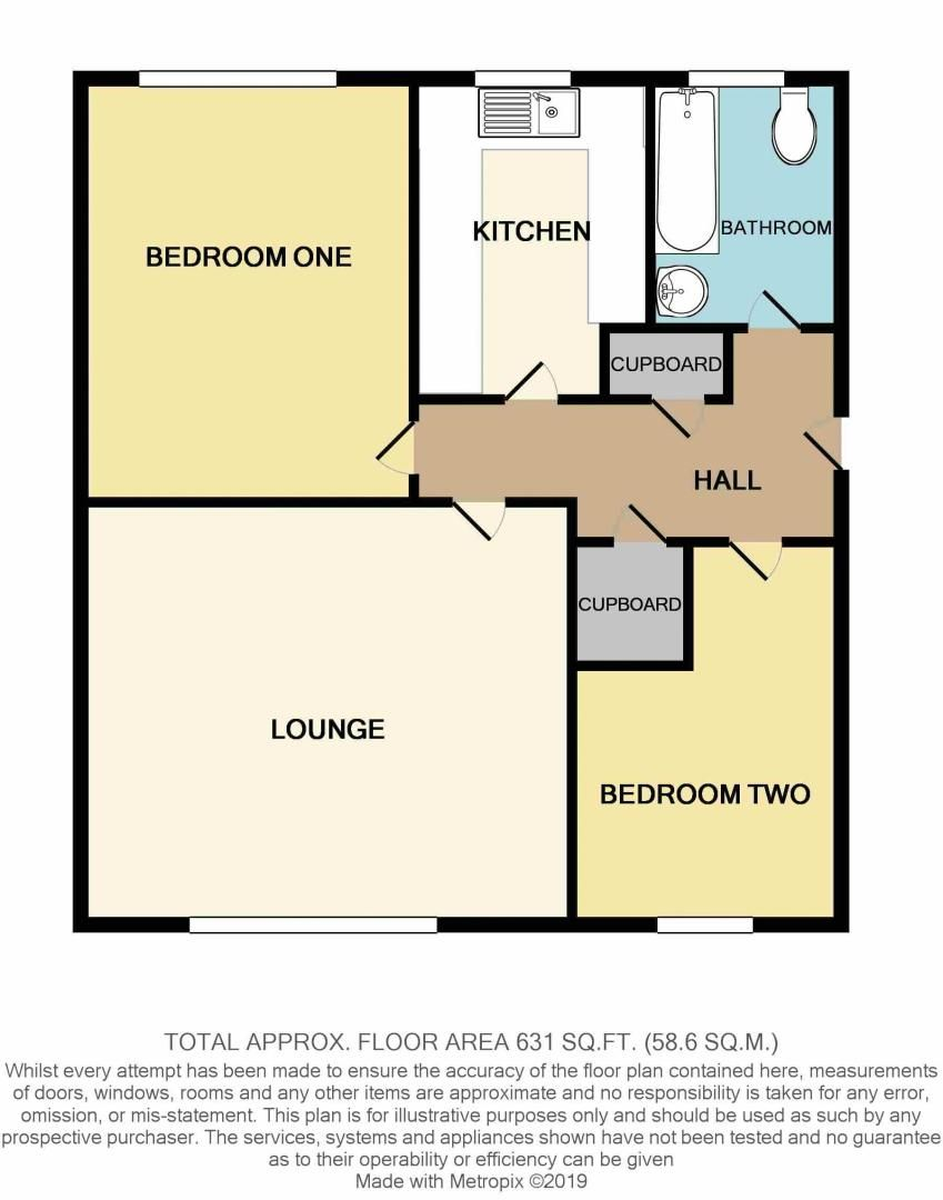 2 bed flat for sale in Woodend Close - Property Floorplan