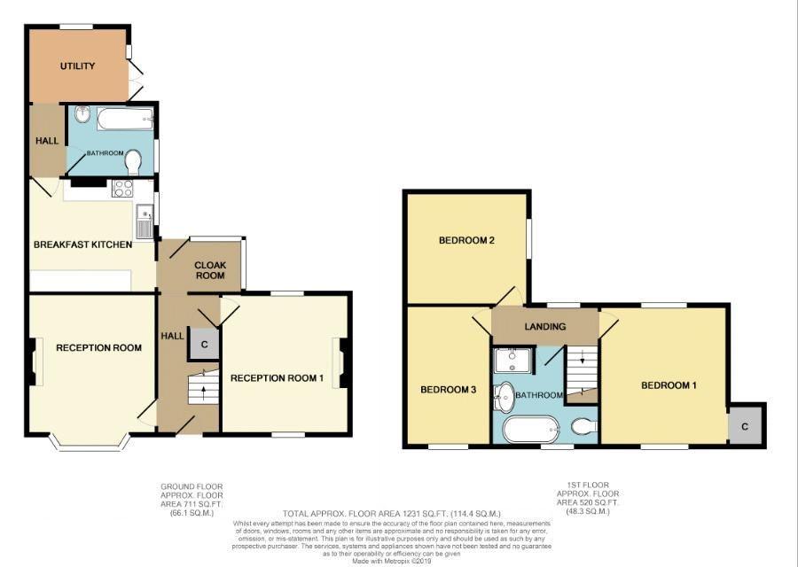 3 bed house for sale in Laurel Lane - Property Floorplan