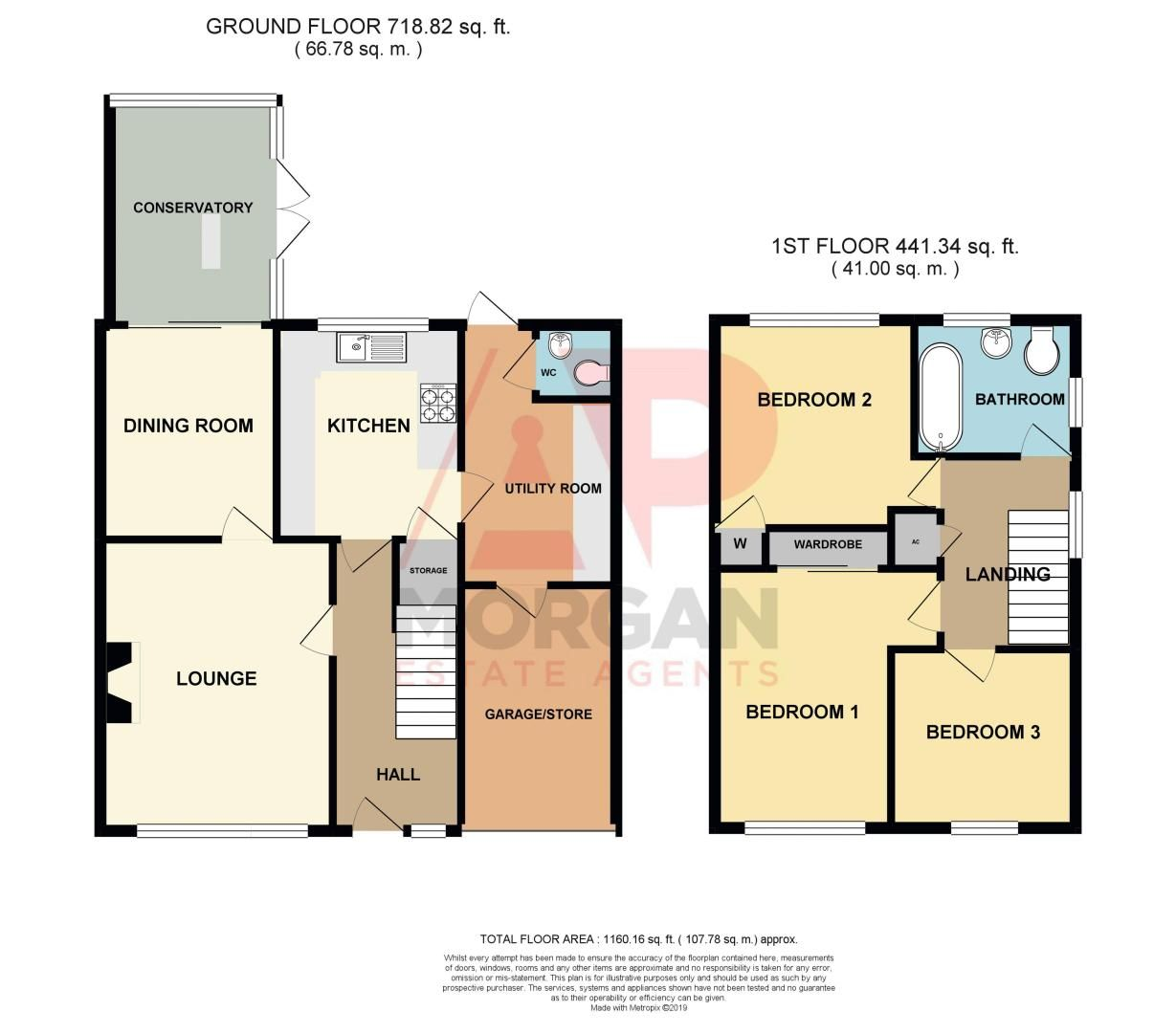 3 bed house for sale in Berrington Close - Property Floorplan