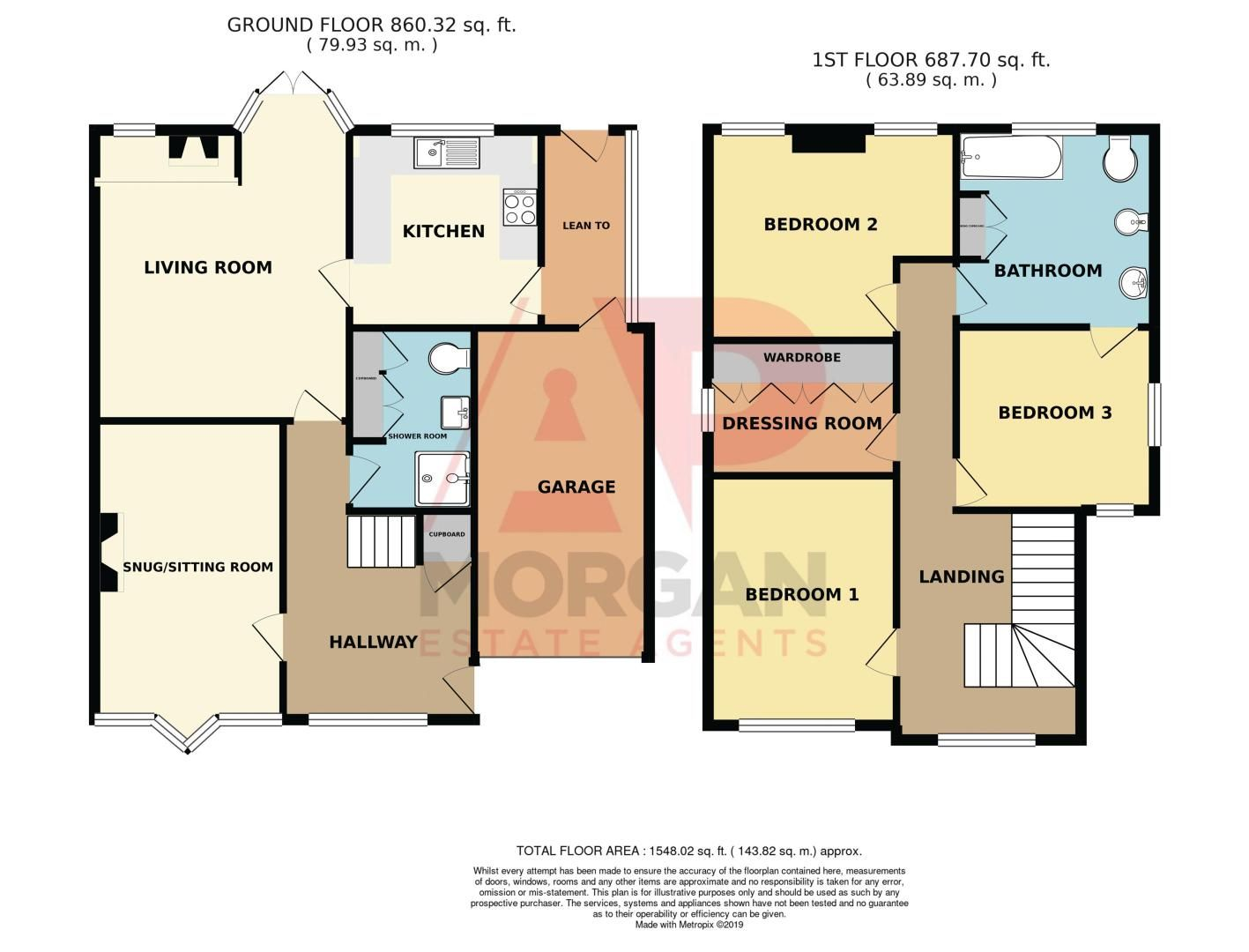 4 bed house for sale in Love Lane - Property Floorplan