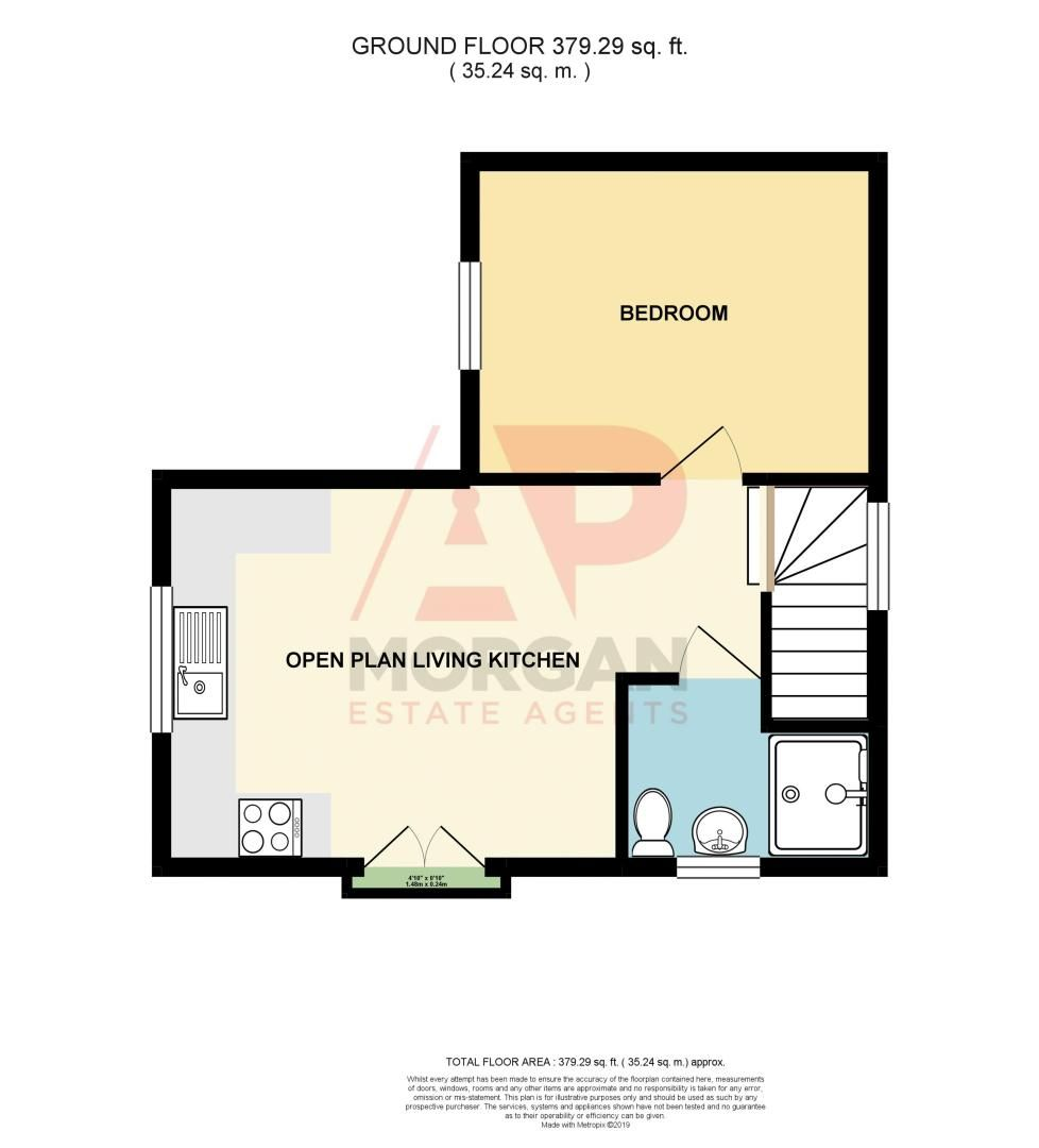 1 bed  for sale in Stourbridge Road - Property Floorplan
