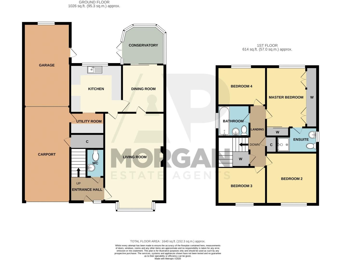 4 bed house for sale in Greystoke Drive - Property Floorplan