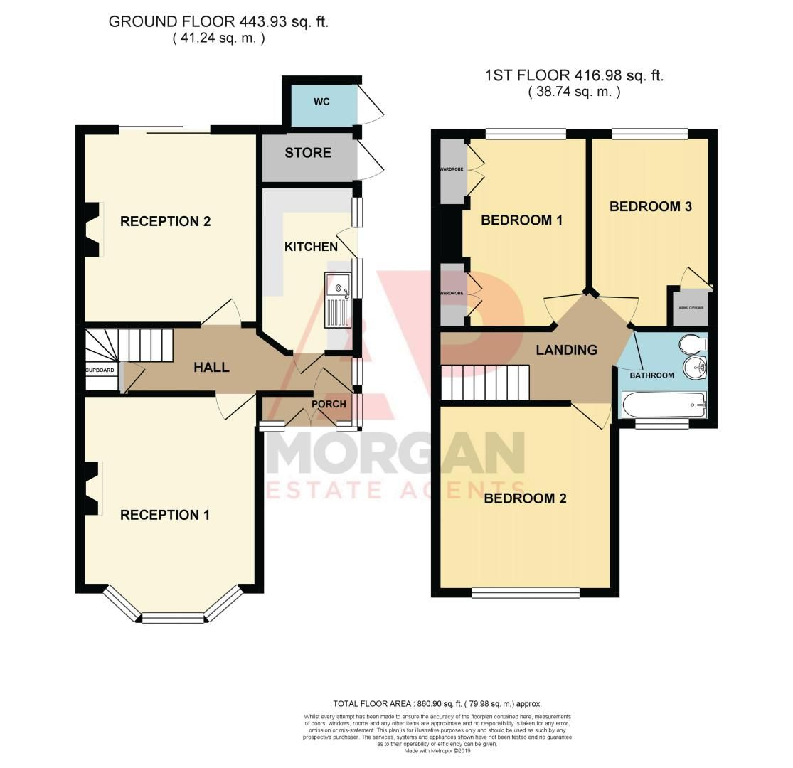 3 bed house for sale in Bromsgrove Road - Property Floorplan