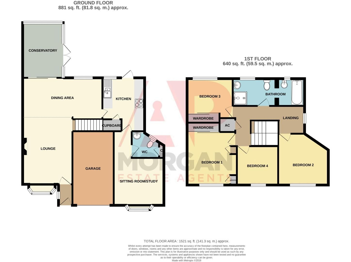 4 bed house for sale in Edgmond Close - Property Floorplan
