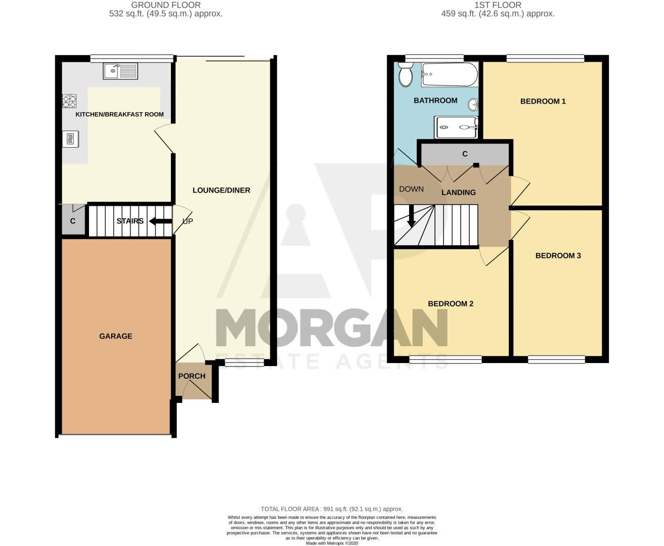 3 bed house for sale in Dunsley Road - Property Floorplan