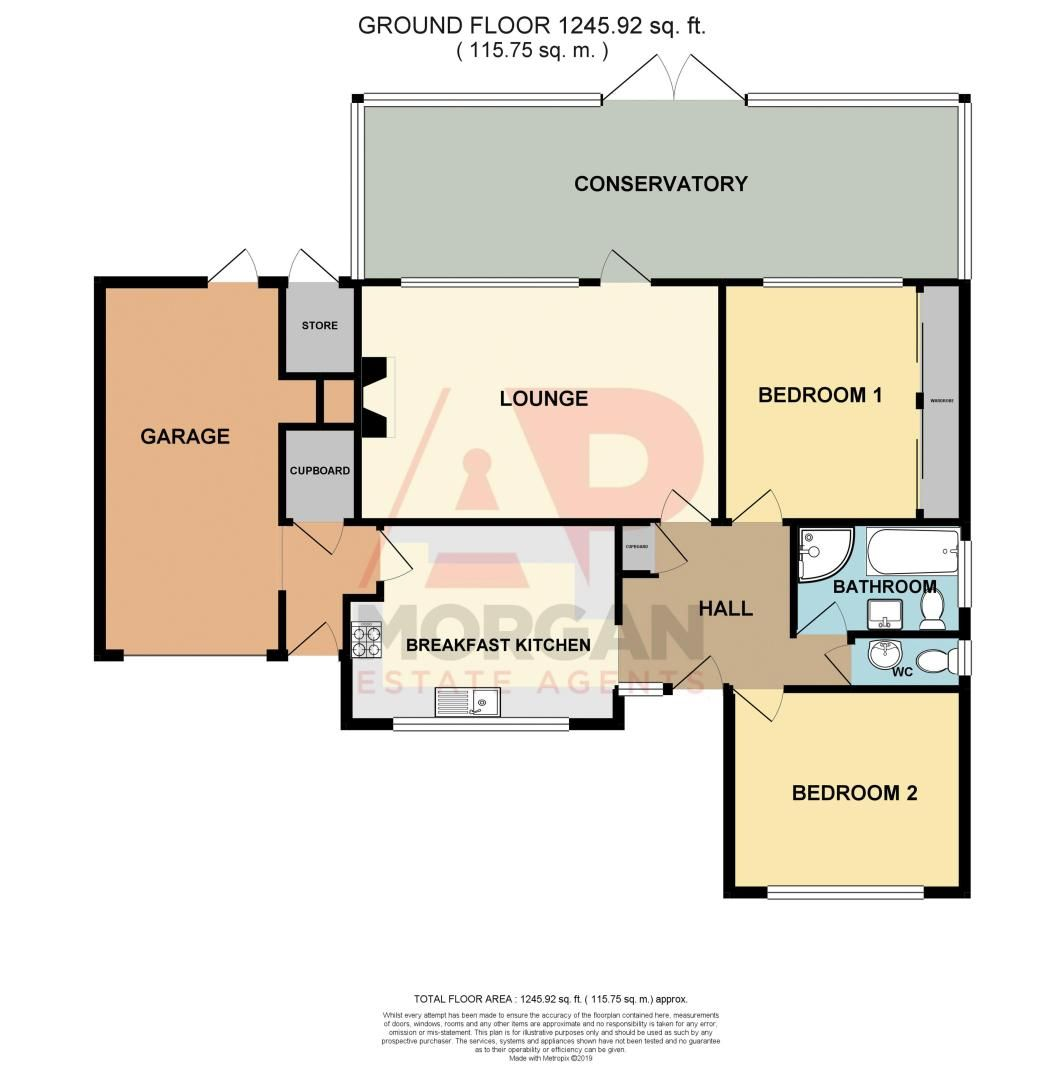 2 bed bungalow for sale in Tennyson Road - Property Floorplan