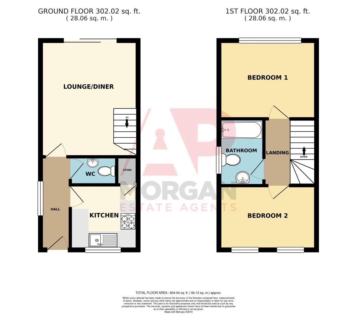 2 bed house for sale in Kinver Street - Property Floorplan