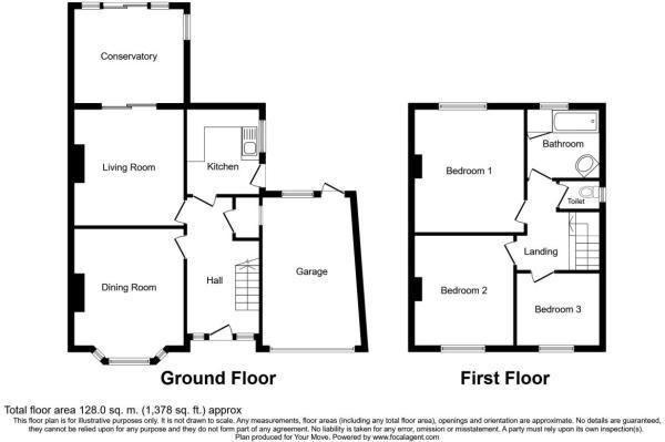 3 bed house for sale in Vicarage Crescent - Property Floorplan