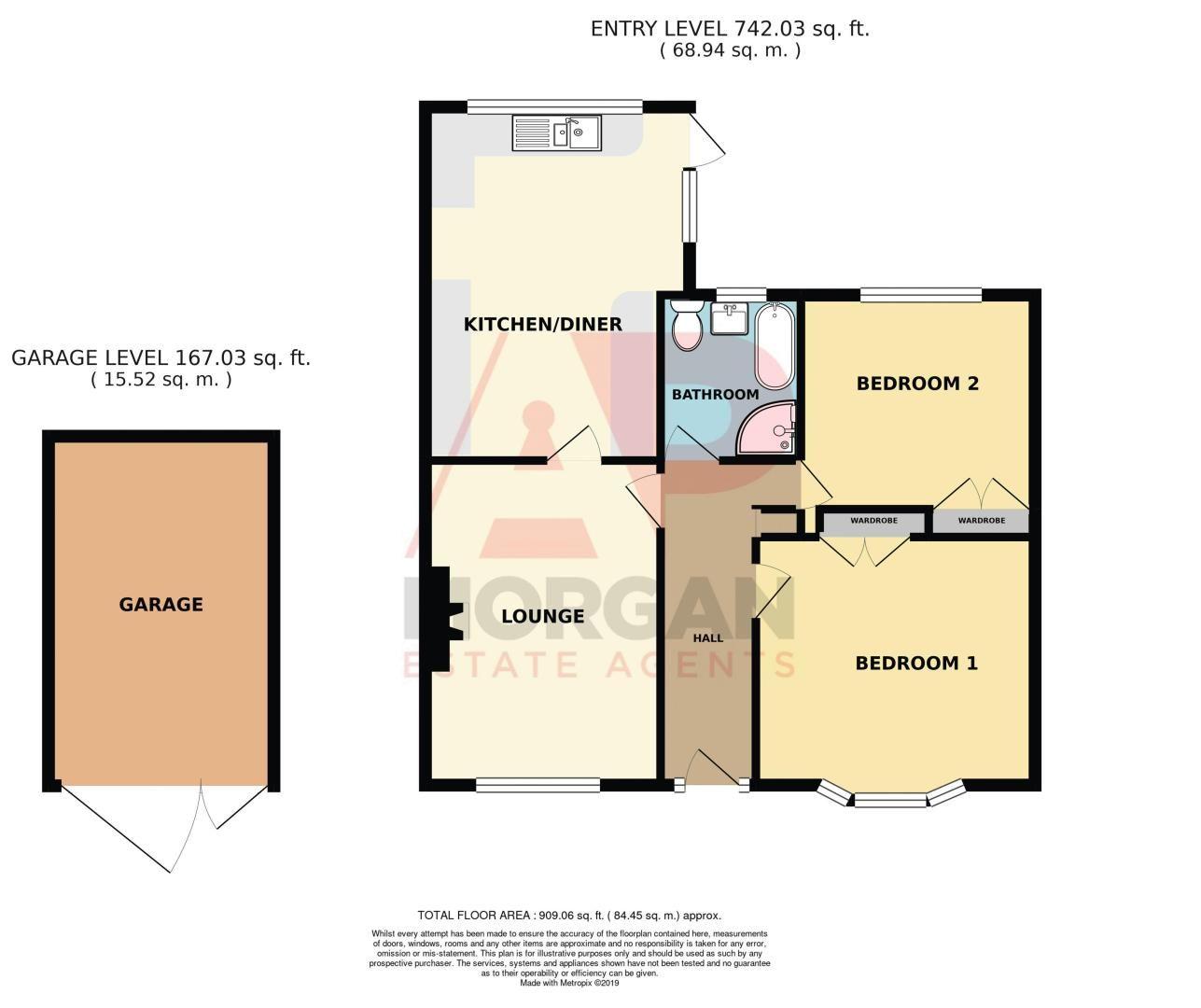 2 bed bungalow for sale in Gauden Road - Property Floorplan