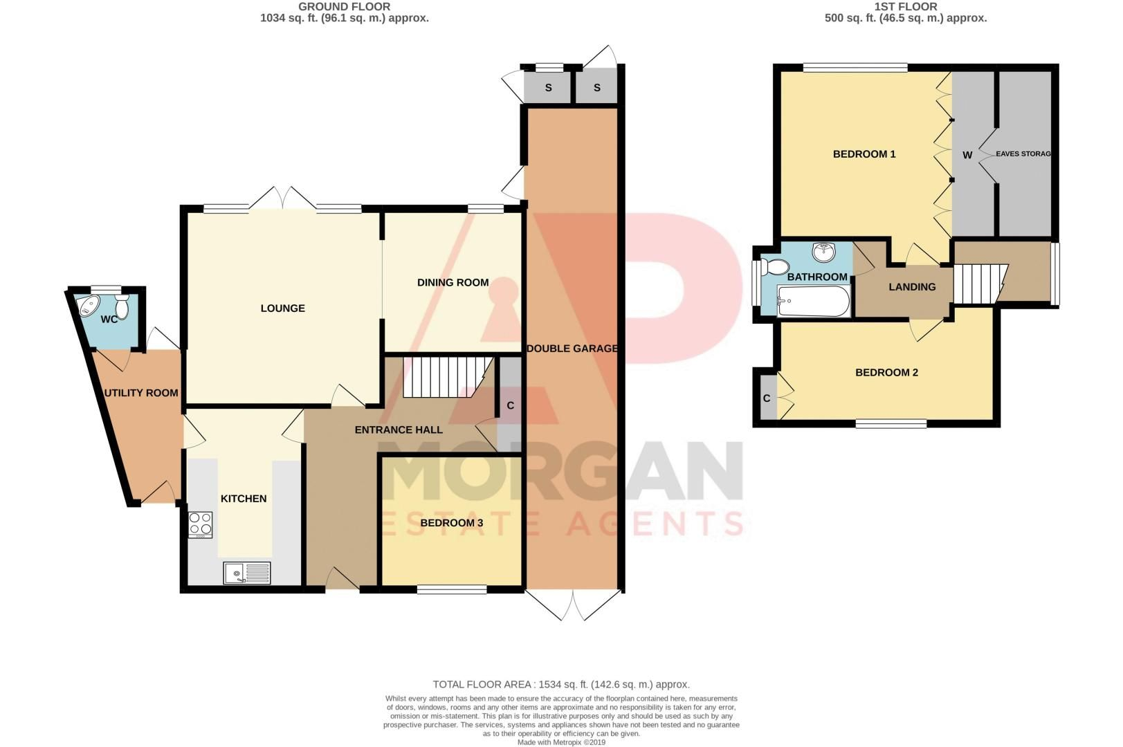 3 bed bungalow for sale in Foley Gardens - Property Floorplan