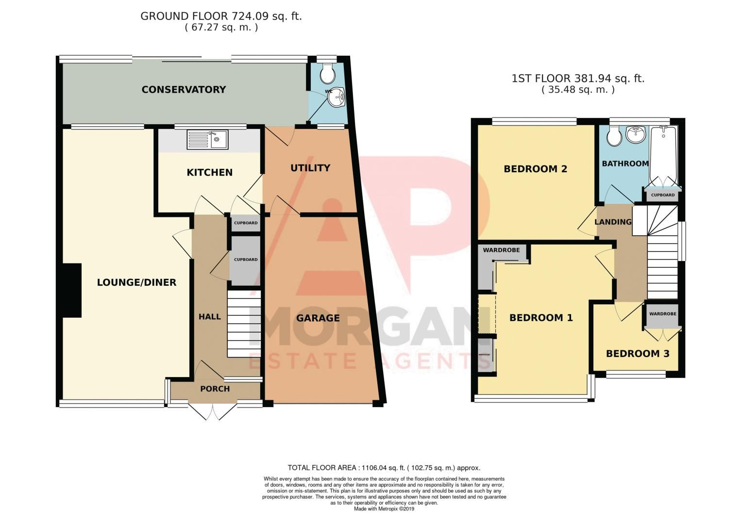 3 bed house for sale in Walker Avenue - Property Floorplan