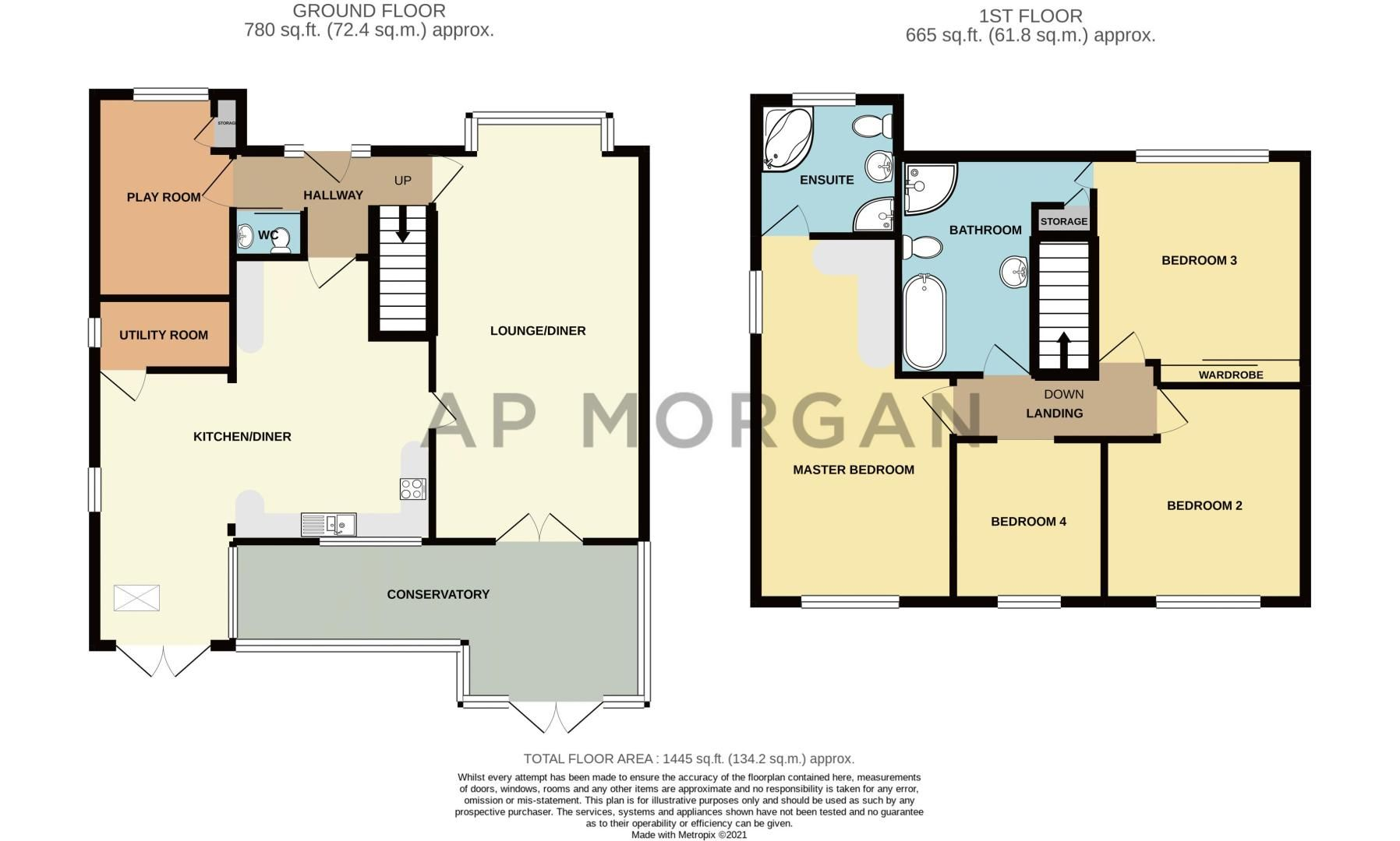 4 bed house for sale in Helmsley Close - Property Floorplan